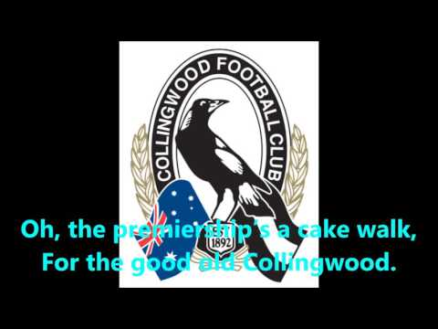 Collingwood Magpies theme song (Lyrics) AFL Sing-A-Long