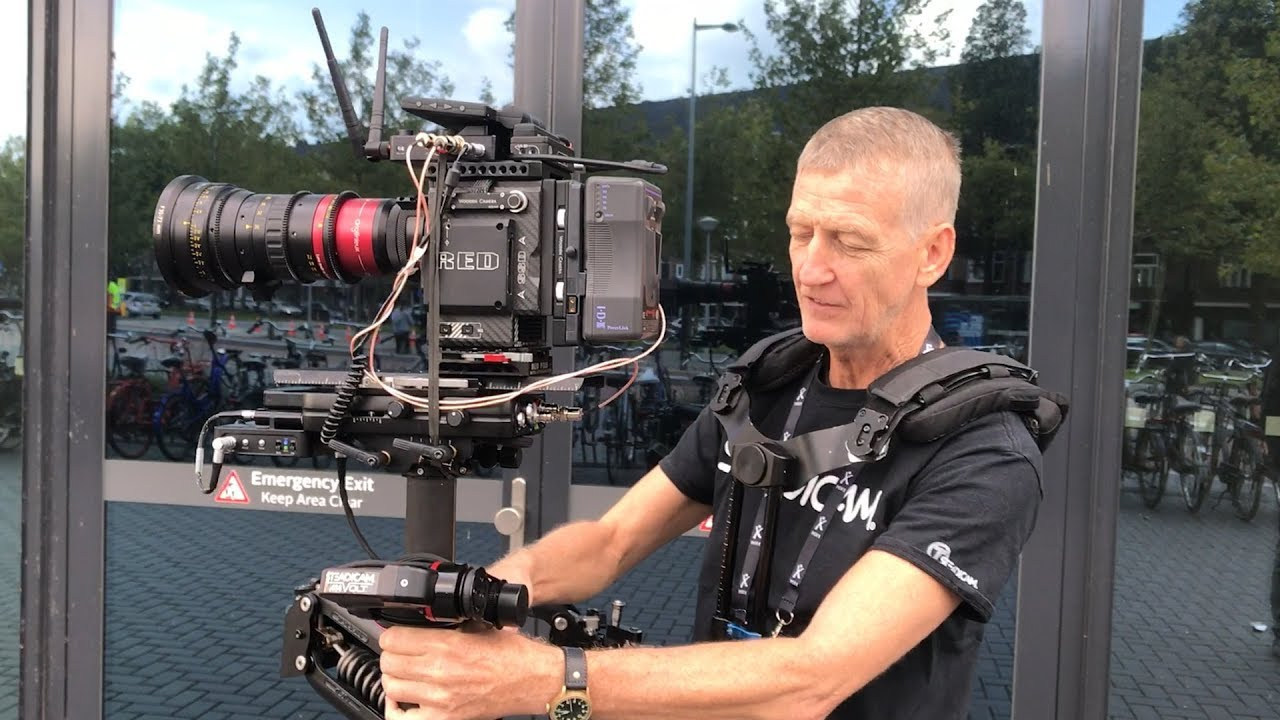 Garrett Brown & Chris Fawcett presenting new Steadicam M-1 Volt