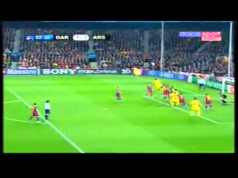 Barcelona vs Arsenal 3-1 Champions League HIGHLIGHTS 2010-2011 - [3/8/2011]