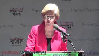Elizabeth Warren at the New Populism Conference (FULL)