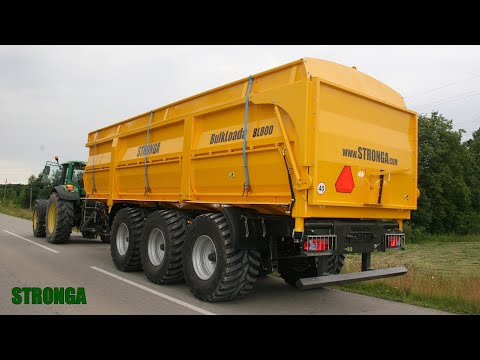 Stronga BulkLoada BL800 2WT agricultural trailer – High capacity tri-axle tipper trailer