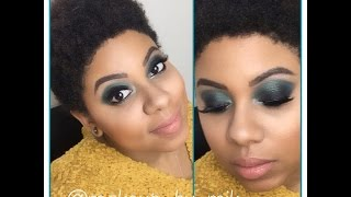 Hello Kitty Anniversary Palette Turquoise Smokey Eye Tutorial Thumbnail