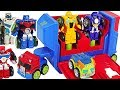 Transformers Rescue Bots Academy Flip Racers Bumblebee  Optimus Prime Launcher   DuDuPopTOY