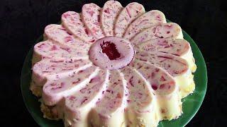 Торт без выпечки с желе и крекером ./Вкусный торт . /Торт из печенья ./Десерты без выпечки .