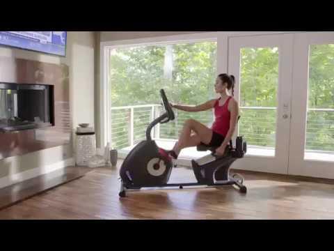 Schwinn 270 Recumbent Bike (MY17), Bluetooth connectivity, syncs with the Schwinn Trainer App