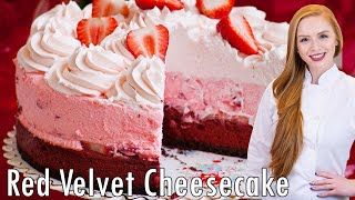 EPIC CAKES: Red Velvet Strawberry Cheesecake
