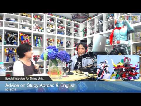 Advice on Study Abroad & English (Special Interview for Ehime Univ.)