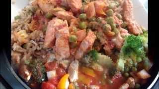 Кулинарный рецепт Второе блюдо Филе индейки с овощами