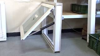 電動推桿 ELA35 / 建築行業應用 / 電動開窗器 / 下掀式窗戶關閉 10mm強化玻璃 窗框尺寸100x80cm