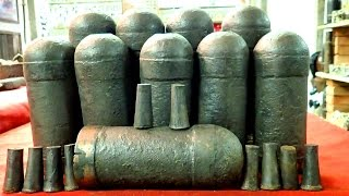 Ten American Civil War Confederate Artillery Shells