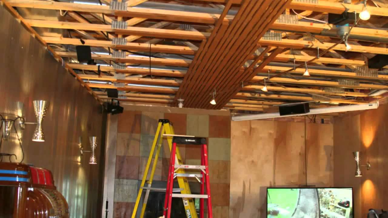 Wood Ceiling Installation Youtube