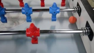 Техника игры в настольный футбол   отлипание мяча от борта