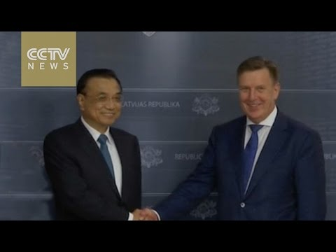 Chinese Premier Li discusses investment with Latvian PM Maris Kucinskis