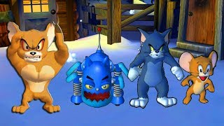 Tom and Jerry in War of the Whiskers - Monster Jerry, Robocat, Jerry, Tom - Tom & Jerry cartoon game