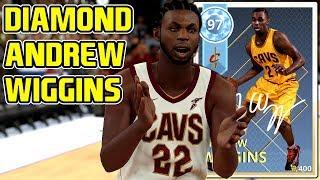 DIAMOND ANDREW WIGGINS GAMEPLAY! HES A CRAZY DUNKING DEMIGOD! NBA 2k18 MYTEAM