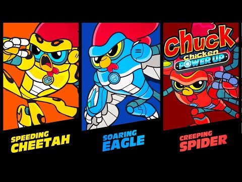 Chuck Chicken - Power Up All episodes  (1-3) - Super ToonsTV