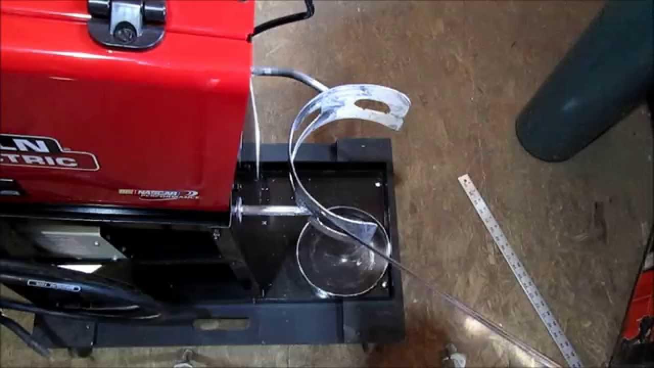 Making brackets to mount Argon/CO2 Tank on Welder Cart - YouTube