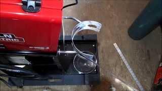 Making Brackets To Mount Argon/co2 Tank On Welder Cart