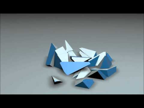 BLUE CUBE SHATTERING - CINEMA 4D