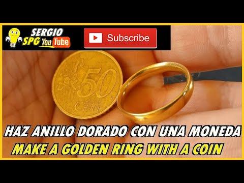 Смотреть 💍COMO HACER ANILLO DORADO CON UNA MONEDA 💍HOW TO MAKE A GOLDEN RING WITH A COIN   LIKE2HACKS онлайн