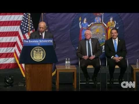 Senator Bernie Sanders announce a proposal for Free Tuition for state colleges in New York