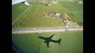 plane landing majorca