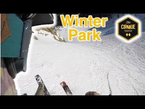 Skiing the Cirque territory at Winter Park Colorado.