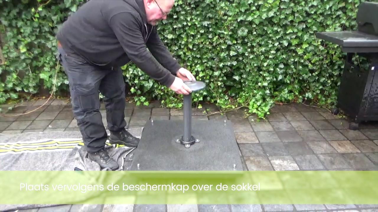 Zweefparasol Met Granieten Voet.Hoe Monteer Ik De Palermo Parasol Buitenhof Tuinmeubelen