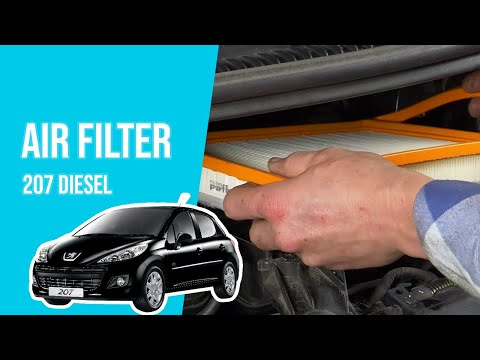 How to replace the air filter PEUGEOT 207 1.4 HDI 💨