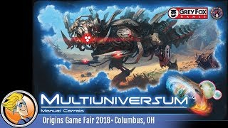 Multiuniversum — game preview at Origins 2018