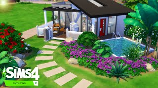 The Sims 4 - Let's Build A Tiny House With The Tiny Living Stuff Pack!  Realtime