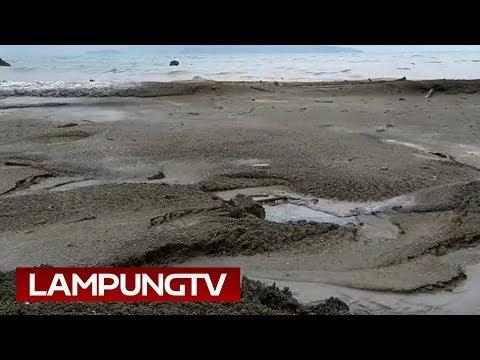 Dahsyatnya Debu Vulkanik Anak Krakatau di Pulau Sebesi