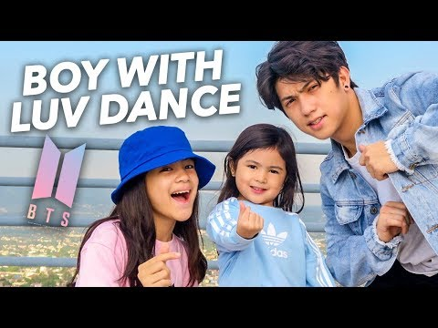 BTS - Boy With Luv Siblings Dance | Ranz And Niana Ft. Natalia