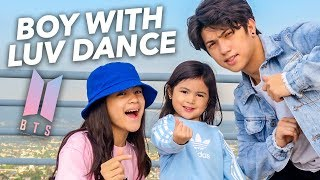 BTS - Boy With Luv Siblings Dance Ranz and Niana ft. natalia