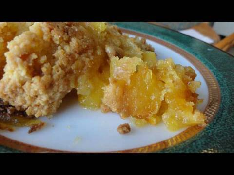 Easy Fresh Peach Cobbler With Cake Mix