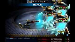 Marvel: Avengers Alliance - Rocket Raccoon Simulator #5 Hazards (With DoTs)