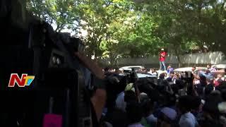 Pawan Kalyan Walk Out From Film Chamber    Pawan Fans Hungama @ Film Chamber    NTV