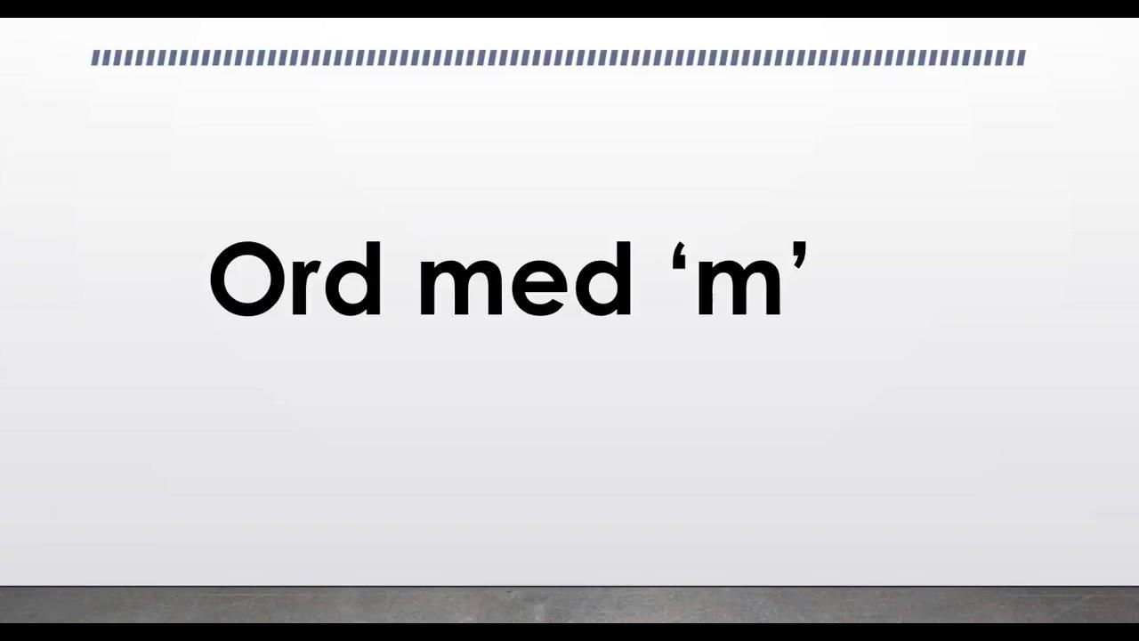 10 Ord Med M Danskarabisk Youtube