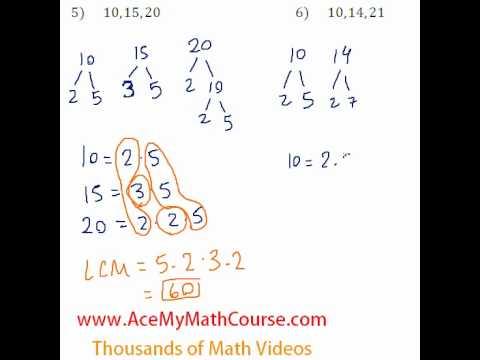 Basic Algebra Review - Least Common Multiple (LCM) #5-6 - YouTube