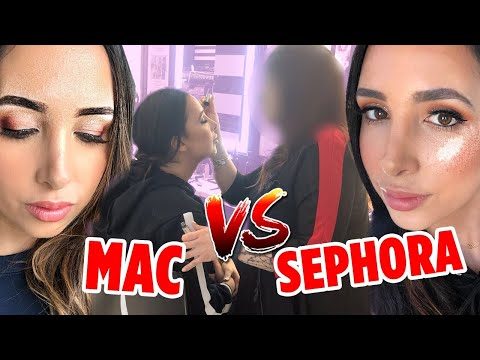 I WENT TO SEPHORA VS MAC TO GET MY MAKEUP DONE - WHICH ONE IS BETTER? | Mariale