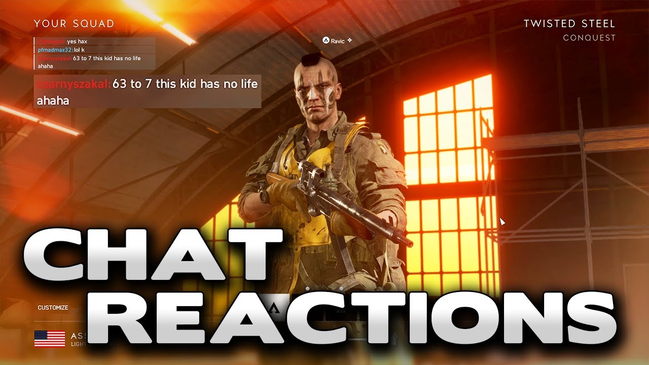 Battlefield 5 SUPER Salt Chat Reactions