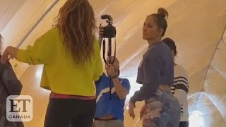 Jennifer Lopez Teaches Shakira Booty Shaking