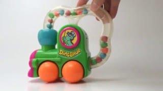 1992 Rare Remco Baby Push Pull Toy Train Dinosaur Roll Arounders