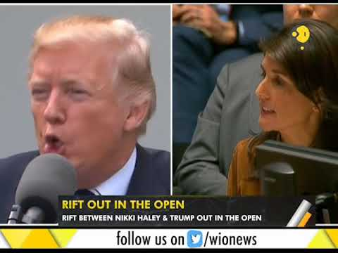 WION Gravitas: US President feels Haley rival in the 2020 elections