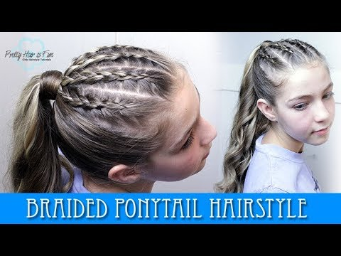 BRAIDED PONYTAIL HAIRSTYLE! thumbnail