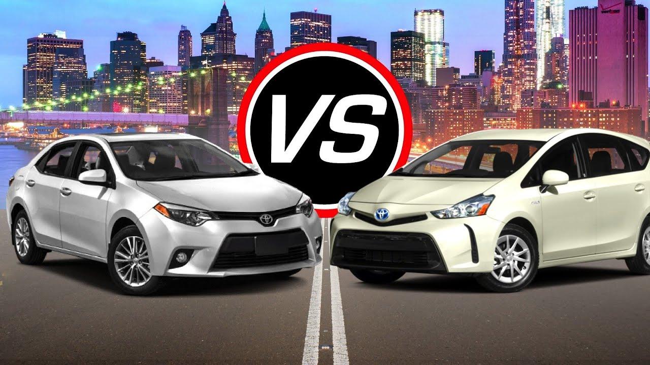 2016 Toyota Corolla Vs Prius V Spec Comparison