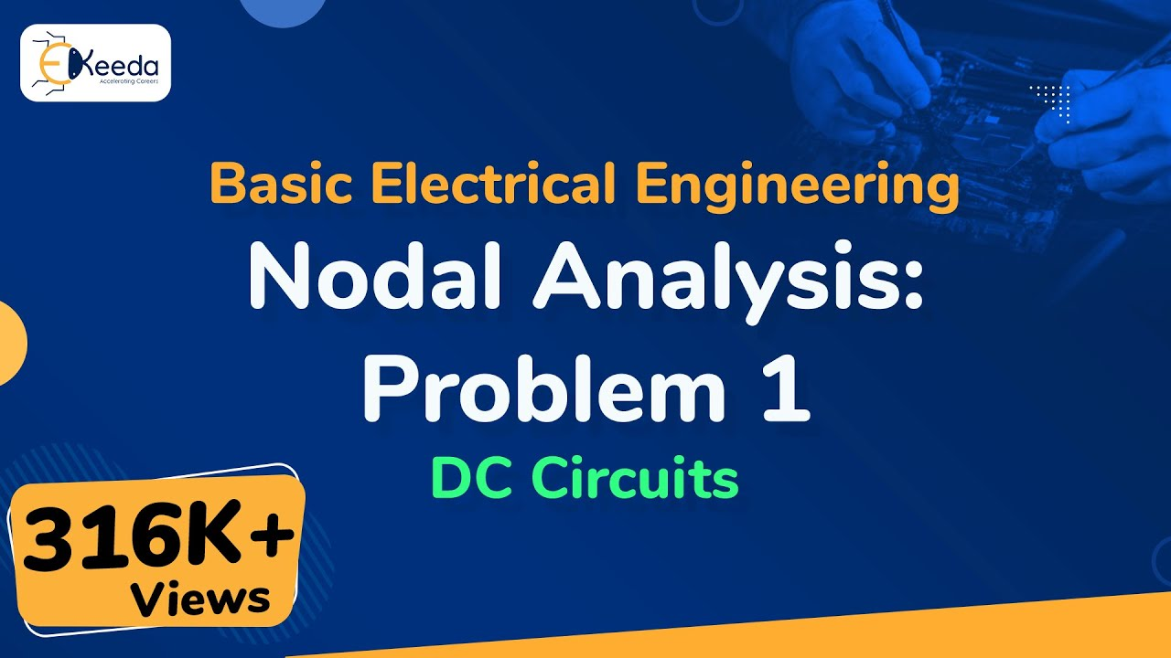 Nodal Analysis Problem 1 Dc Circuits Basic Electrical Electricity And Lessons Exercises Practice Tests Nodalanalysis Nodalanalysisproblem Dccircuits