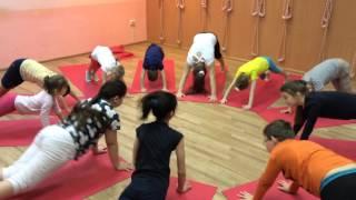 """Йога для детей, студия йоги """"ГАНЕША"""". Открытый урок, 26.12.2015"""