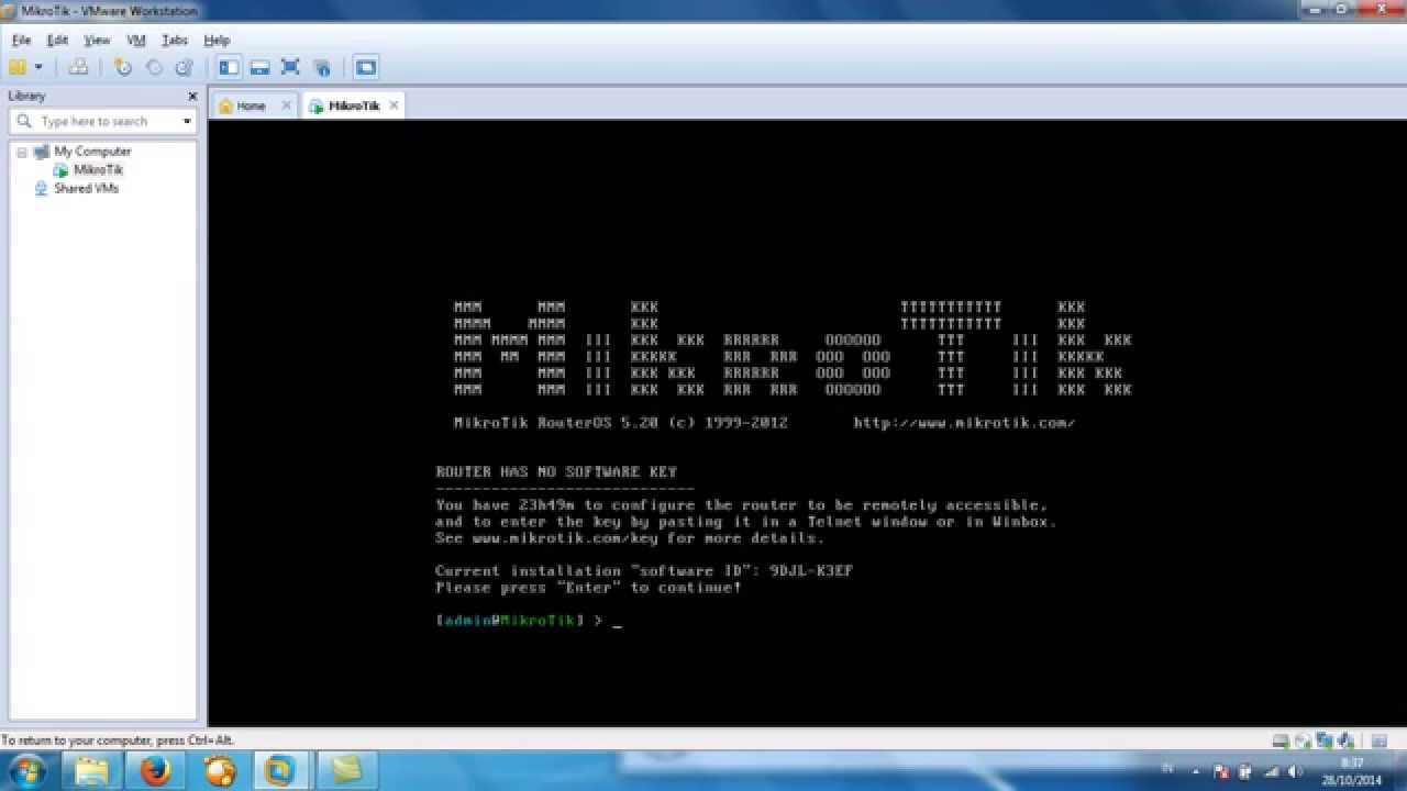 install MikroTik RouterOS on VMWare