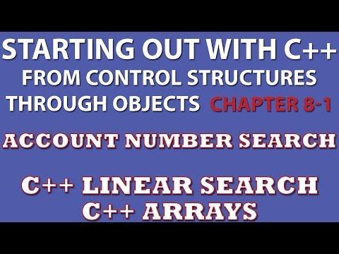 C++ Programming Challenge 8-1: Charge Account Validation (C++ Array, Linear Search)